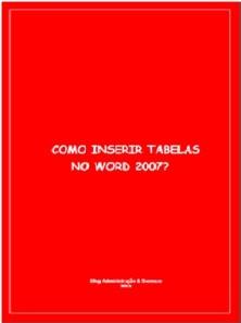 Inserir tabela no Word 2007